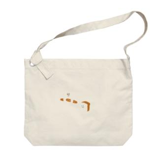 食パンとねこ Big shoulder bags