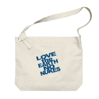 ビッグ LOVE the EARTH NO NUKES Big shoulder bags