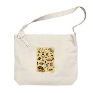 純喫茶 いろどり 背景つき Big shoulder bags