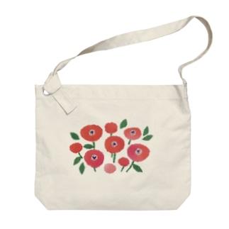 お花のある暮らし Big shoulder bags