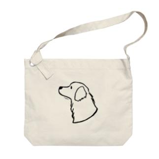 ゴールデン・レトリーバー〈線〉 Big shoulder bags