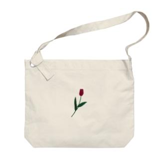 一輪のチューリップ🌷カラー Big shoulder bags