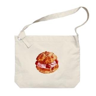シュークリーム Big shoulder bags