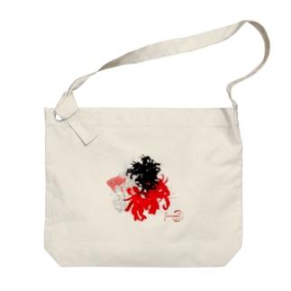 金魚-和花 Big shoulder bags