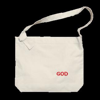 アメリカンベースのGOD 神様 Big shoulder bags