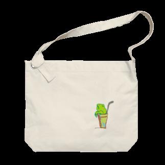 アメリカンベースのソフトドリンク・カエル Big shoulder bags