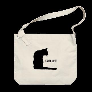 猫と釣り人のCAT_21_1KW Big shoulder bags