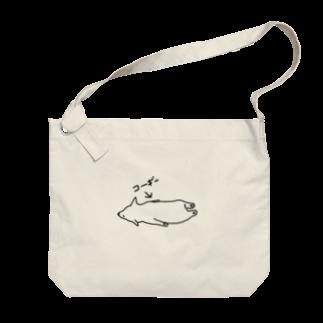 たぶん、デザインの【たぶん】コーギー のビッグショルダーバッグ Big shoulder bags