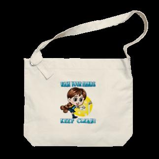 堀越ヨッシーのお店のWASH YOUR HANDS Big shoulder bags
