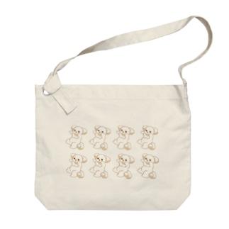 いぬはぴ(整列) Big shoulder bags