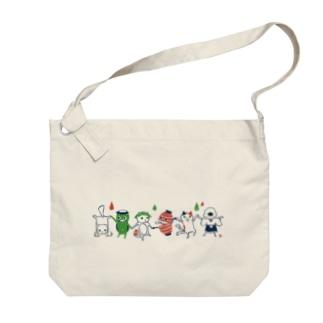 おばけ商店のおばけショルダー<妖怪ラインダンス> Big shoulder bags