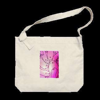 はたまた、この店ハムスターの腸壁のはむ、毛々さん おピンク Big shoulder bags