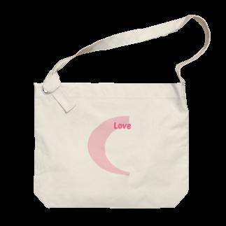 アメリカンベースのLove  デザイン Big shoulder bags