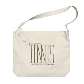 I vow to love Tennis Big shoulder bags