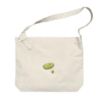 アボカドユッケベッド Big shoulder bags