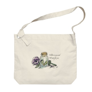 小瓶とアネモネ Big shoulder bags