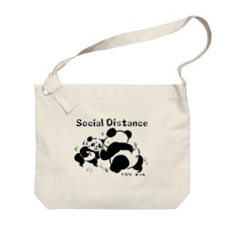 social distance 距離をとろう Big Shoulder Bag