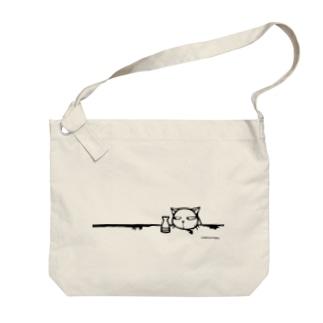 徳利ネコ Big shoulder bags