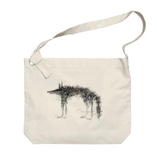 flower wolf Big shoulder bags