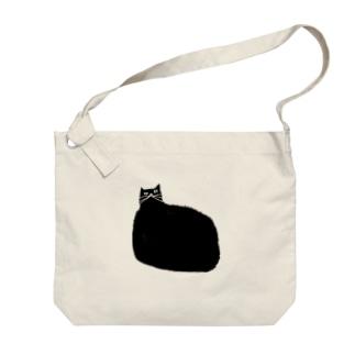 クロネコだよ Big shoulder bags