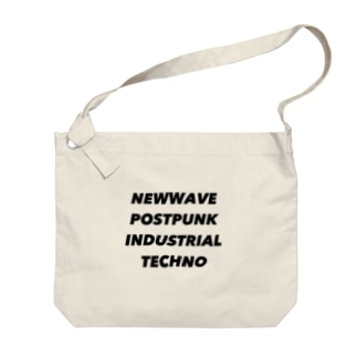 NEWWAVE POSTPUNK INDUSTRIAL TECHNO Big Shoulder Bag