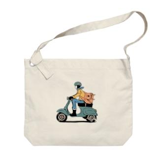 ポス子さん Big shoulder bags