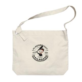 Railroads お猿さんエンブレム 黒 Big shoulder bags