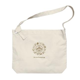 「野球大好き」トキメキゴールド Big shoulder bags
