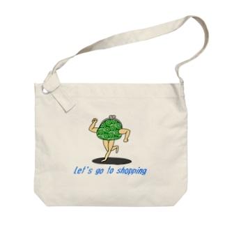 買い物に行こう【がま口(唐草模様)】 Big shoulder bags