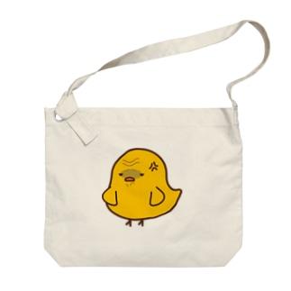 不機嫌ひよこ Big shoulder bags
