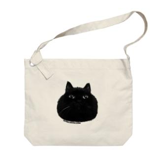 まんまるクロネコ Big shoulder bags