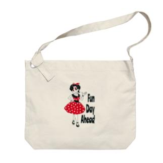 楽しい一日を Big shoulder bags
