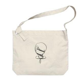 白あやくん Big shoulder bags