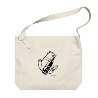 一升瓶ネコ  Big shoulder bags