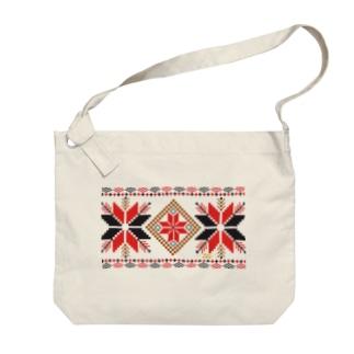 オーナメントスタークラシックパターン Big shoulder bags