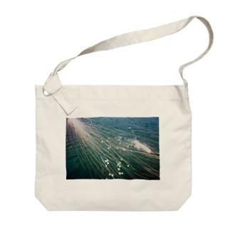 海と花火(水面ver.) Big shoulder bags