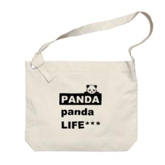 のぞきこみパンダ Big shoulder bags