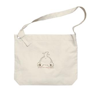 アラスカン・マラミュート犬のおしり Big shoulder bags