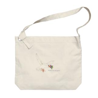 Blueberry Javasparrow Big Shoulder Bag