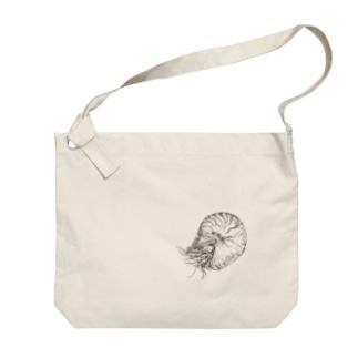 オウムガイ Big shoulder bags