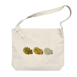 うさぎ鯛焼き3連 Big shoulder bags