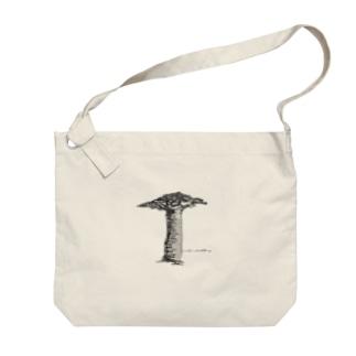 mornoventoバオバブの木 Big shoulder bags