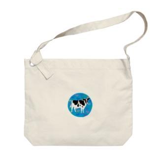 牛さんモーモー Big shoulder bags