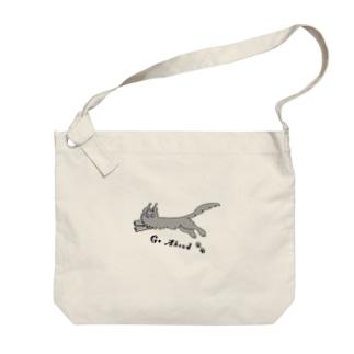 Go Ahead🐾Mainecoon Big shoulder bags