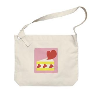 ハートのショートケーキ Big shoulder bags