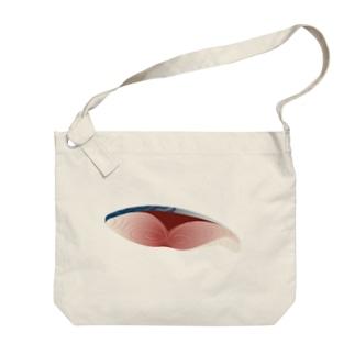 鯖の切り身 Big shoulder bags