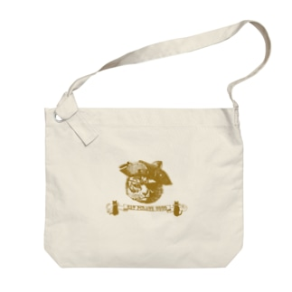"""『CAT PIRATE COCO 海賊猫 coco』の""""Keep Calm and Steampunk On ロゴ・グッズ Big shoulder bags"""