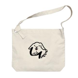 【uncle momo】ロゴ Big Shoulder Bag