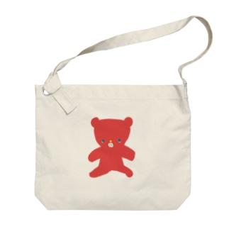 赤色くまちゃん Big Shoulder Bag