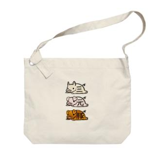 三元豚 Big shoulder bags